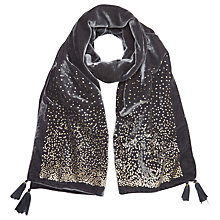 Buy White Stuff Scatter Spot Scarf, Grey Online at johnlewis.com