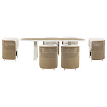 Buy Ethimo Esedra 6 Seater Garden Dining Set, FSC-Certified (Teak), White Online at johnlewis.com