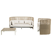 Buy Ethimo Esedra 4 Seater Highback Lounge Set, FSC-Certified (Teak), White Online at johnlewis.com