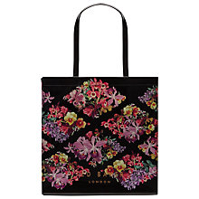 Buy Ted Baker Calicon Lost Gardens Large Shopper Bag, Black Online at johnlewis.com