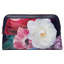 Buy Ted Baker 	Noria Blushing Bouquet Wash Bag, Navy Online at johnlewis.com