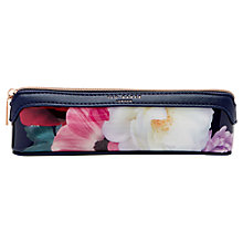 Buy Ted Baker 	Keela Blushing Bouquet Pencil Case, Navy Online at johnlewis.com