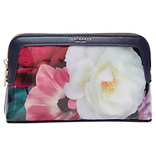 Buy Ted Baker 	Mayree Blushing Bouquet Makeup Bag, Navy Online at johnlewis.com