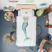 Buy Snurk Mermaid Duvet Cover and Pillowcase Set, Single Online at johnlewis.com