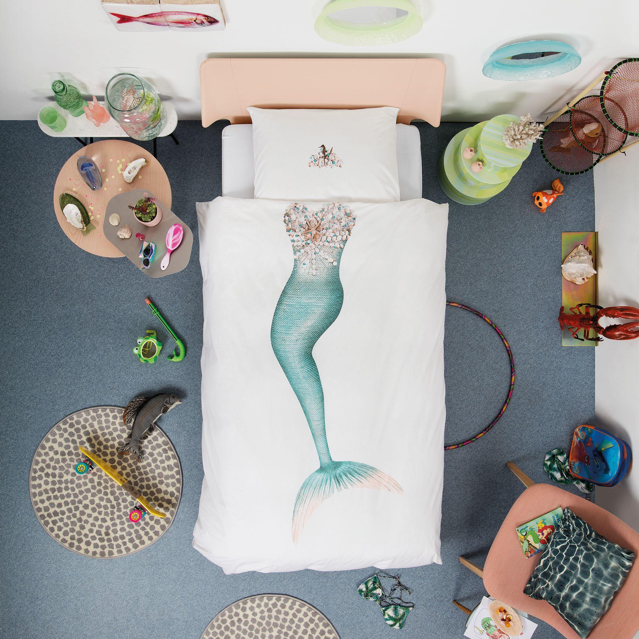 Snurk Snurk Mermaid Duvet Cover and Pillowcase Set, Single