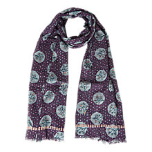 Buy White Stuff Crafting Spot Scarf, Artichoke Purple Online at johnlewis.com