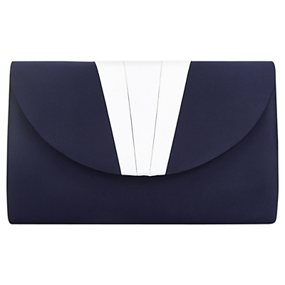 Retro Handbags, Purses, Wallets, Bags Jacques Vert Pleat Clutch Bag Blue £69.00 AT vintagedancer.com