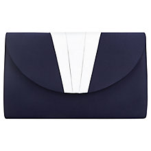 Buy Jacques Vert Pleat Clutch Bag, Blue Online at johnlewis.com