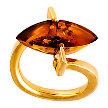 Buy Be-Jewelled Marquise Amber Ring, Cognac Online at johnlewis.com