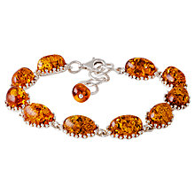 Buy Be-Jewelled Oval Amber Bracelet, Cognac Online at johnlewis.com