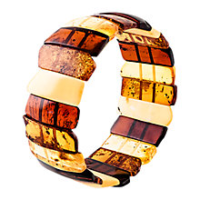 Buy Be-Jewelled Amber Stretch Cuff, Cognac/Multi Online at johnlewis.com