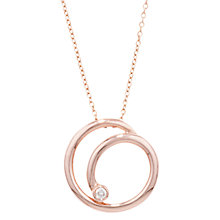 Buy London Road 9ct Rose Gold Diamond Swirl Pendant Necklace Online at johnlewis.com