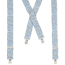 Buy John Lewis Ditsy Floral Braces, One Size, Light Grey Online at johnlewis.com