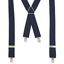 Buy John Lewis Polka Dot Braces, One Size, Navy Online at johnlewis.com