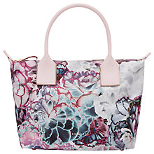 Buy Ted Baker Irie Illuminated Bloom Small Tote Bag, Dusky Pink/Multi Online at johnlewis.com