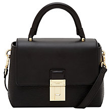 Buy Ted Baker Berte Leather Top Handle Grab Bag, Black Online at johnlewis.com