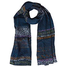Buy White Stuff Sunday Stripe Scarf, Cavolo Teal Online at johnlewis.com
