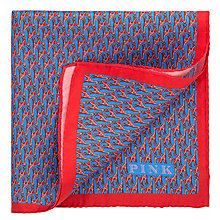 Buy Thomas Pink Giraffe Print Silk Pocket Square, Red/Blue Online at johnlewis.com