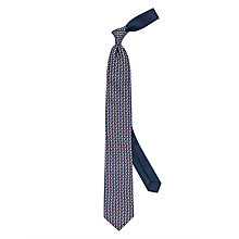 Buy Thomas Pink Monkey Heart Silk Tie, Navy/Pink Online at johnlewis.com