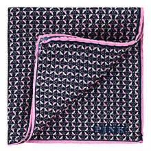 Buy Thomas Pink Monkey Heart Print Silk Pocket Square Online at johnlewis.com