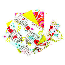 Buy Craft Cotton Co. Chirpee Fat Quarter Fabrics, Pack of 6, Multi Online at johnlewis.com