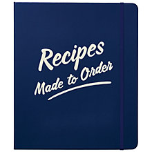 Buy kate spade new york 'Recipes Made To Order' Diner Style Recipe Book, White / Blue Online at johnlewis.com