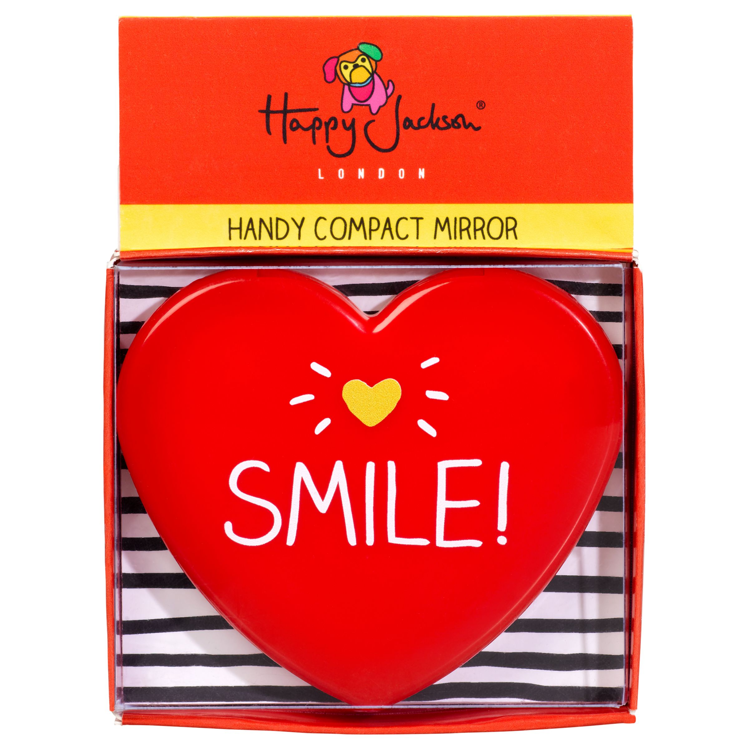 Happy Jackson Happy Jackson 'Smile' Heart Shaped Compact Mirror