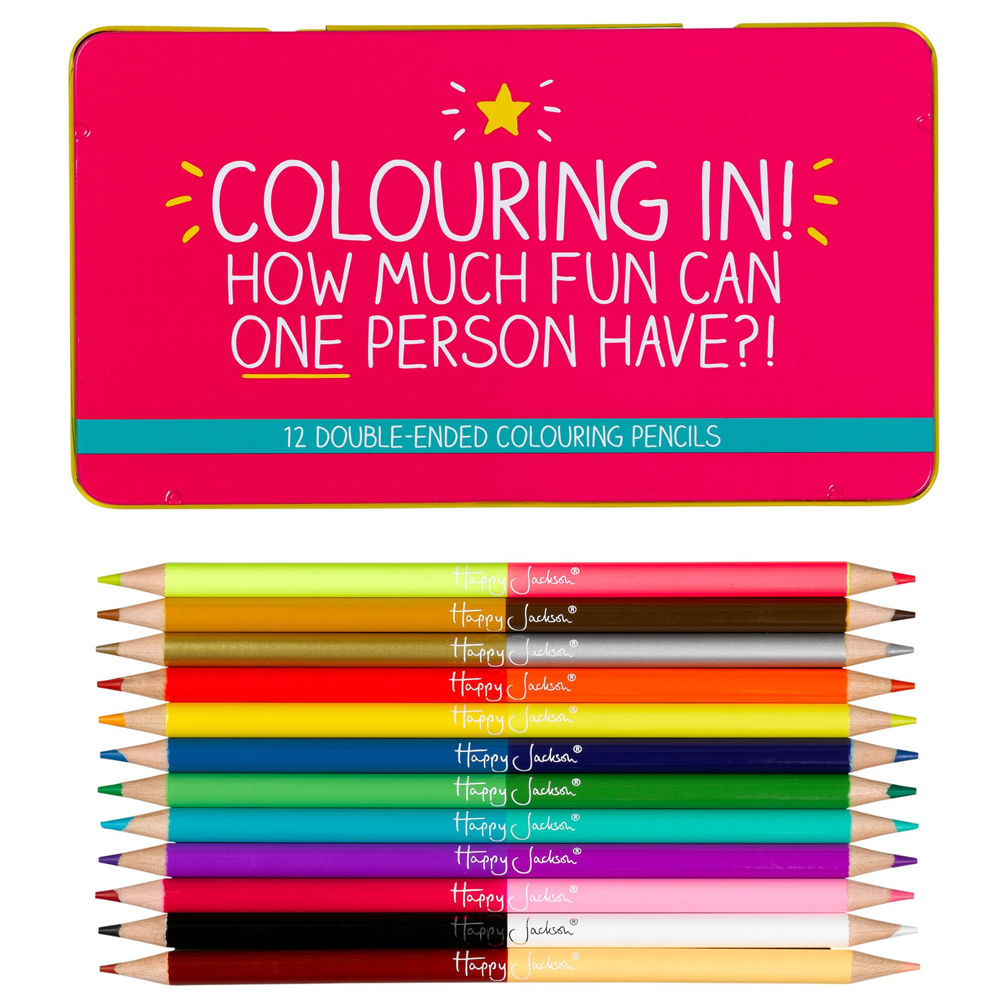Happy Jackson Happy Jackson 'Colouring In!' Coloured Pencils, Set of 12