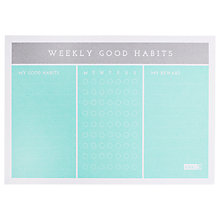 Buy kikki.K Weekly Habits Pad Online at johnlewis.com