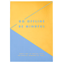 Buy kikki.K Go Offline Be Mindful Journal Online at johnlewis.com
