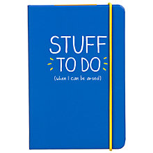 Buy Happy Jackson A6 'Stuff To Do' Notebook, Blue Online at johnlewis.com