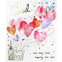 Buy Woodmansterne Church Balloons Just Married Greeting Card Online at johnlewis.com