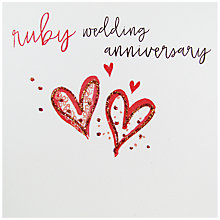 Buy Belly Button Designs Ruby Wedding Anniversary Greeting Card Online at johnlewis.com
