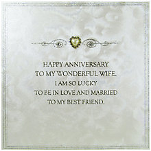 Buy Five Dollar Shake Wonderful Wife Anniversary Card Online at johnlewis.com