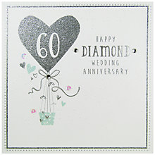 Buy Carte Blanche Diamond Anniversairy Greeting Card Online at johnlewis.com
