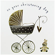 Buy Belly Button Designs Christening Greeting Card Online at johnlewis.com