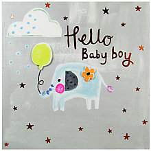 Buy Paper Salad Hello Baby Boy Card Online at johnlewis.com