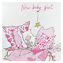 Buy Woodmansterne New Baby Girl Greeting Card Online at johnlewis.com
