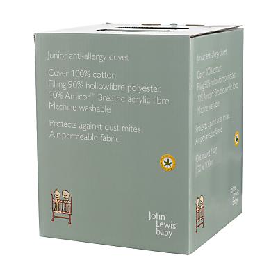 Image of John Lewis Junior Anti Allergy Cot Duvet, 4 Tog