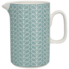 Buy Orla Kiely Linear Stem Pitcher, Duck Egg Blue Online at johnlewis.com