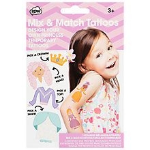 Buy NPW Mix and Match Temporary Princess Tattoos Online at johnlewis.com