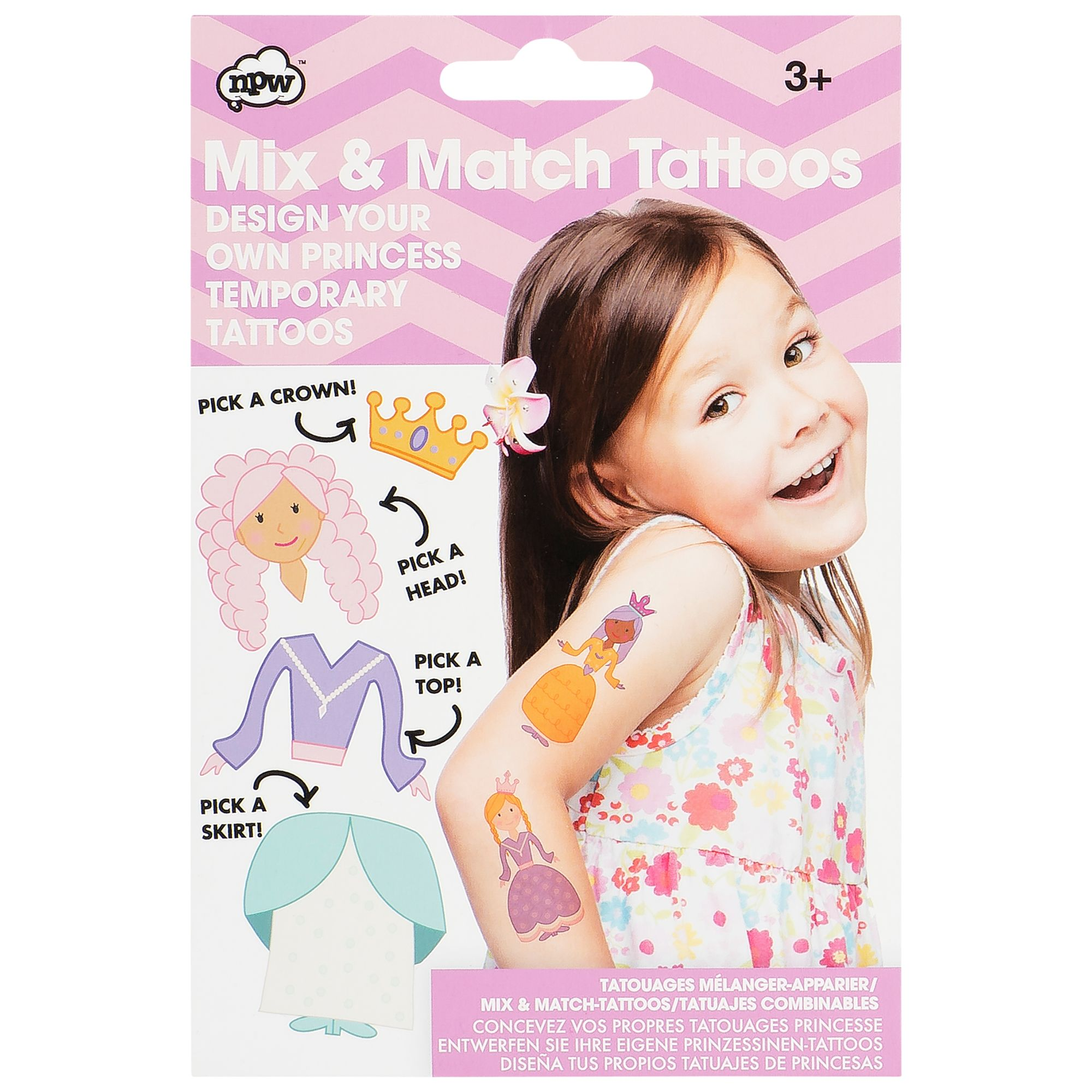 NPW NPW Mix and Match Temporary Princess Tattoos