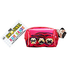 Buy NPW Get Emojinal Hair Bands Pug Dog Mini Kit Online at johnlewis.com