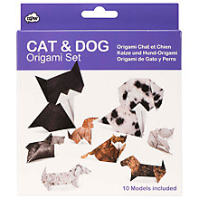 Buy NPW Cat and Dog Origami Kit Online at johnlewis.com