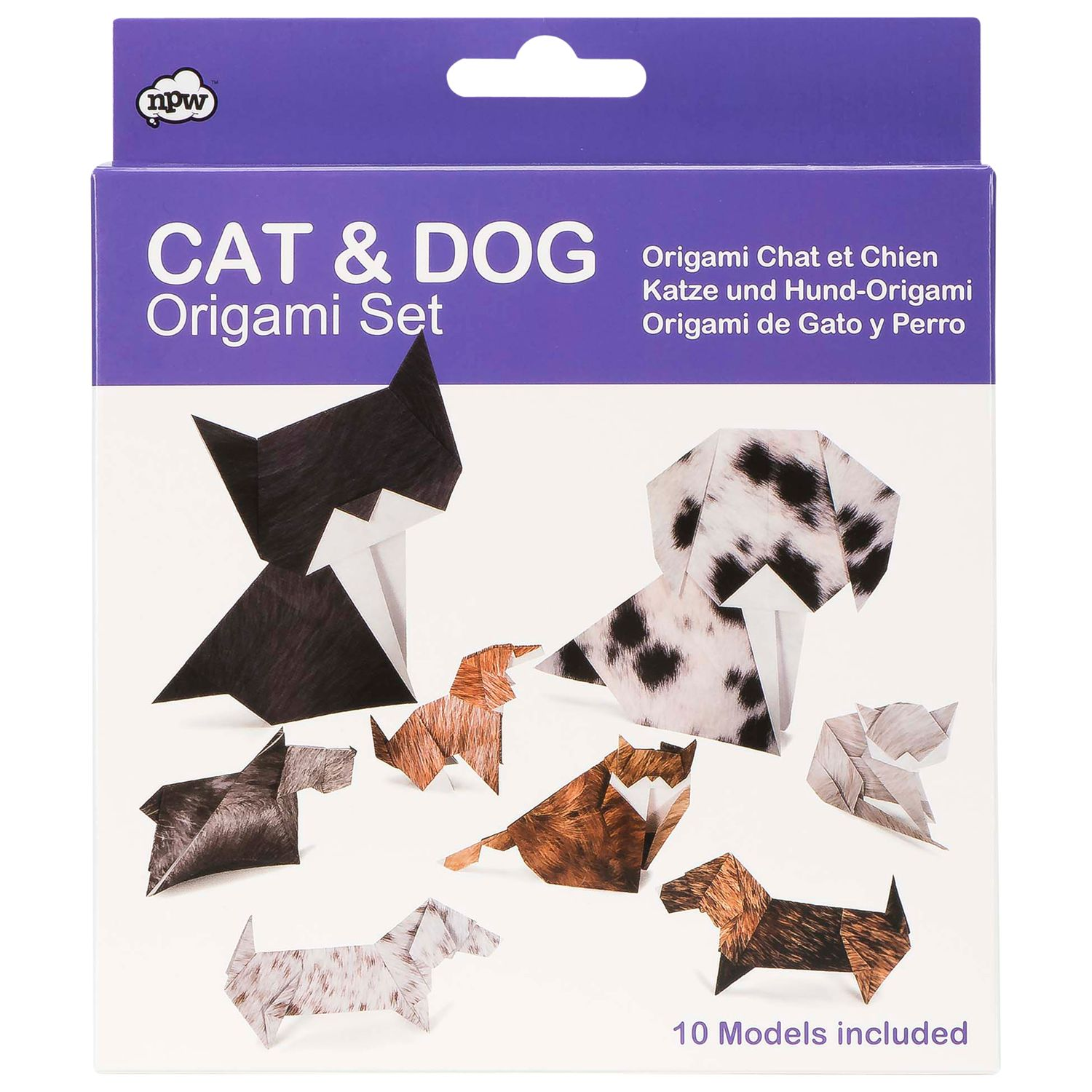 NPW NPW Cat and Dog Origami Kit