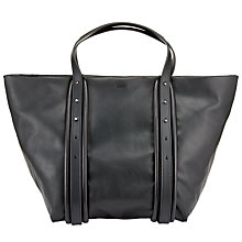 Buy DKNY Item Hybrid Leather Large Tote Bag, Black Online at johnlewis.com