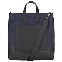 Buy DKNY Denim Dip Dye Tote Bag, Blue Online at johnlewis.com