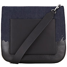 Buy DKNY Denim Dip Dye Across Body Bag, Blue Online at johnlewis.com