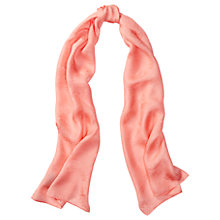 Buy Lauren Ralph Lauren Lona Silk Jacquard Scarf, Soft Peach Online at johnlewis.com