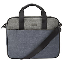 Buy Ted Baker Piranha Document Bag, Charcoal Online at johnlewis.com